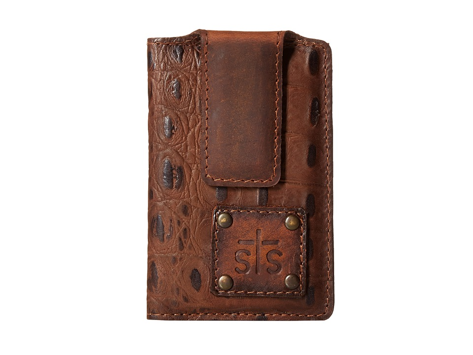 STS Ranchwear - The Foreman Money Clip (Brown Croc) Wallet