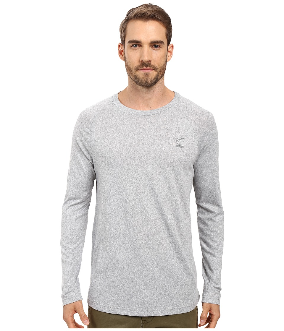 G-Star - Classic Long Sleeve Raglan Tee in Thero Jersey (Grey Heather) Men's T Shirt