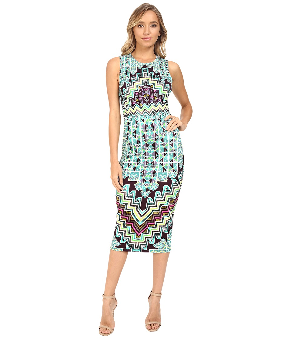 Mara Hoffman - Rug Ponte Midi Dress (Turquoise) Women's Dress
