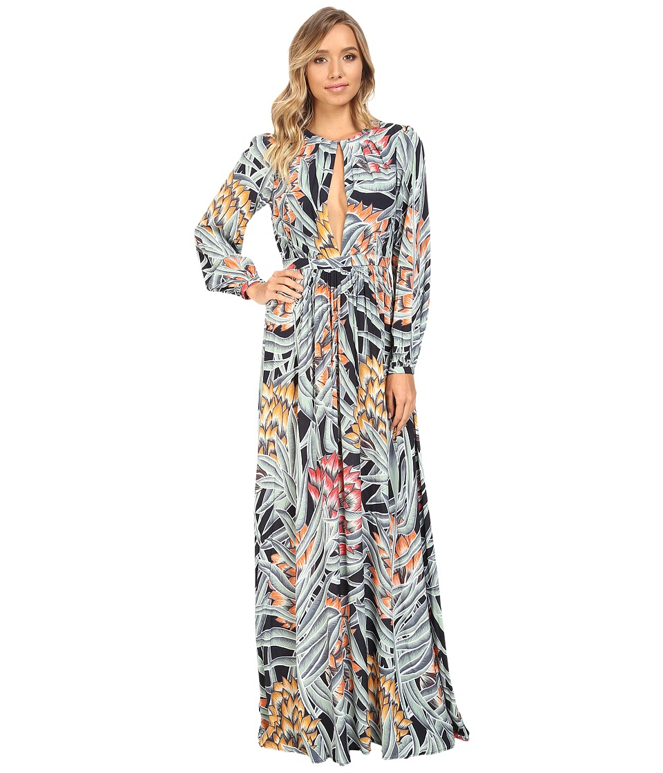 Mara Hoffman - Herbarium Keyhole Maxi Dress (Charcoal) Women's Dress