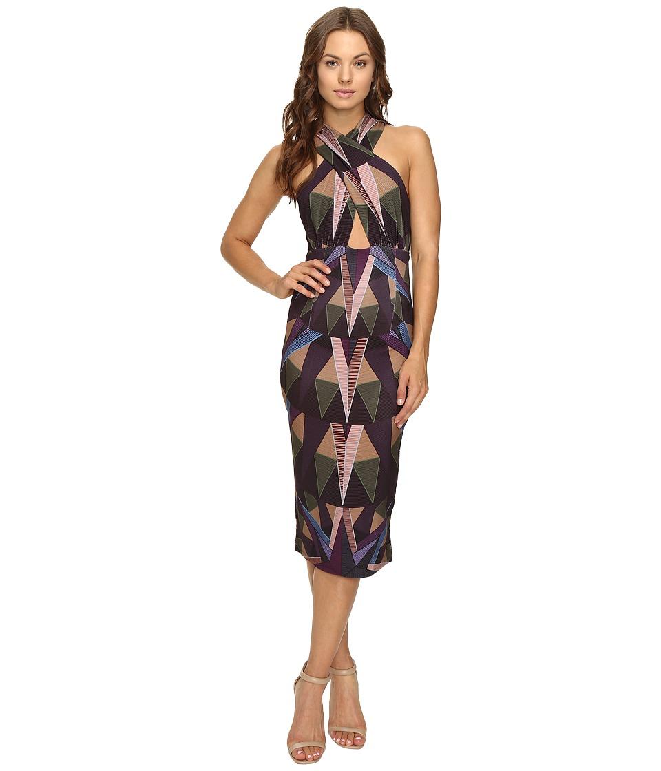 Mara Hoffman - Compass Cross Front Dress (Olive) Women's Dress
