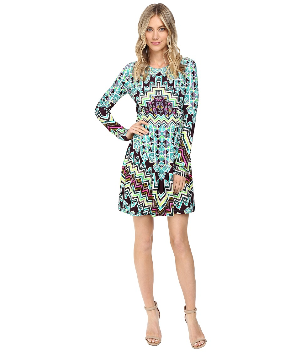 Mara Hoffman Rug Ponte Mini Dress (Turquoise) Women