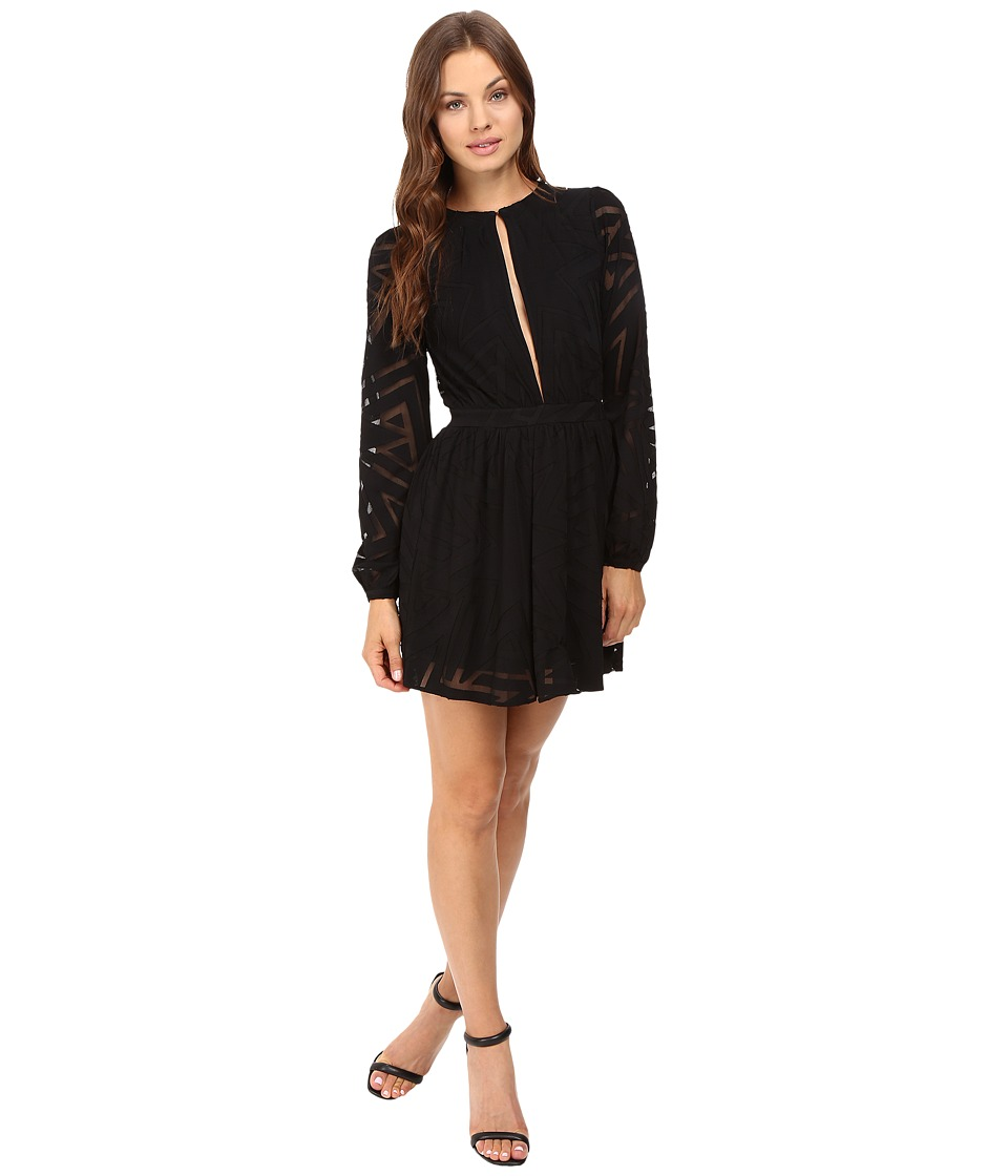 Mara Hoffman - Compass Burnout Mini Dress (Black) Women's Dress