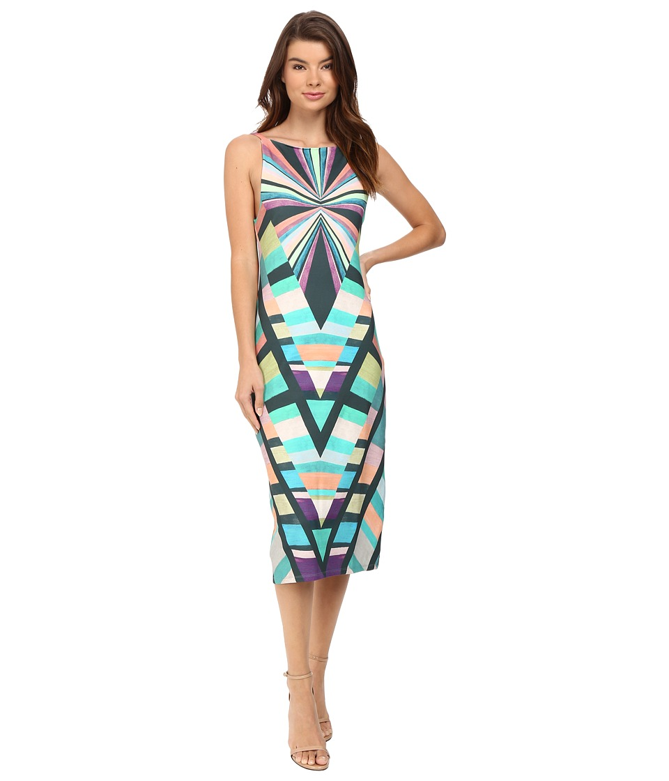 Mara Hoffman Prism V-Back Dress (Teal) Women