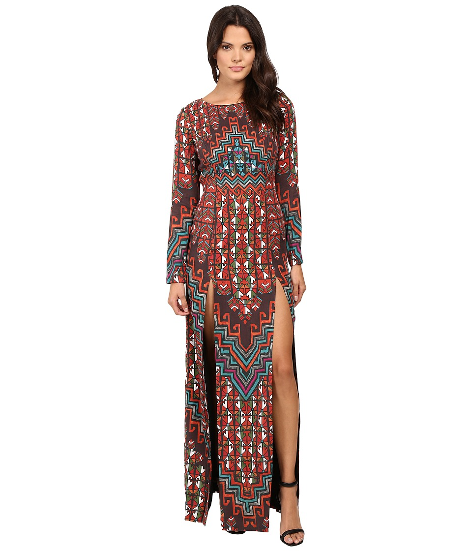 Mara Hoffman - Rug Tencel Maxi Dress (Orange Multi) Women's Dress