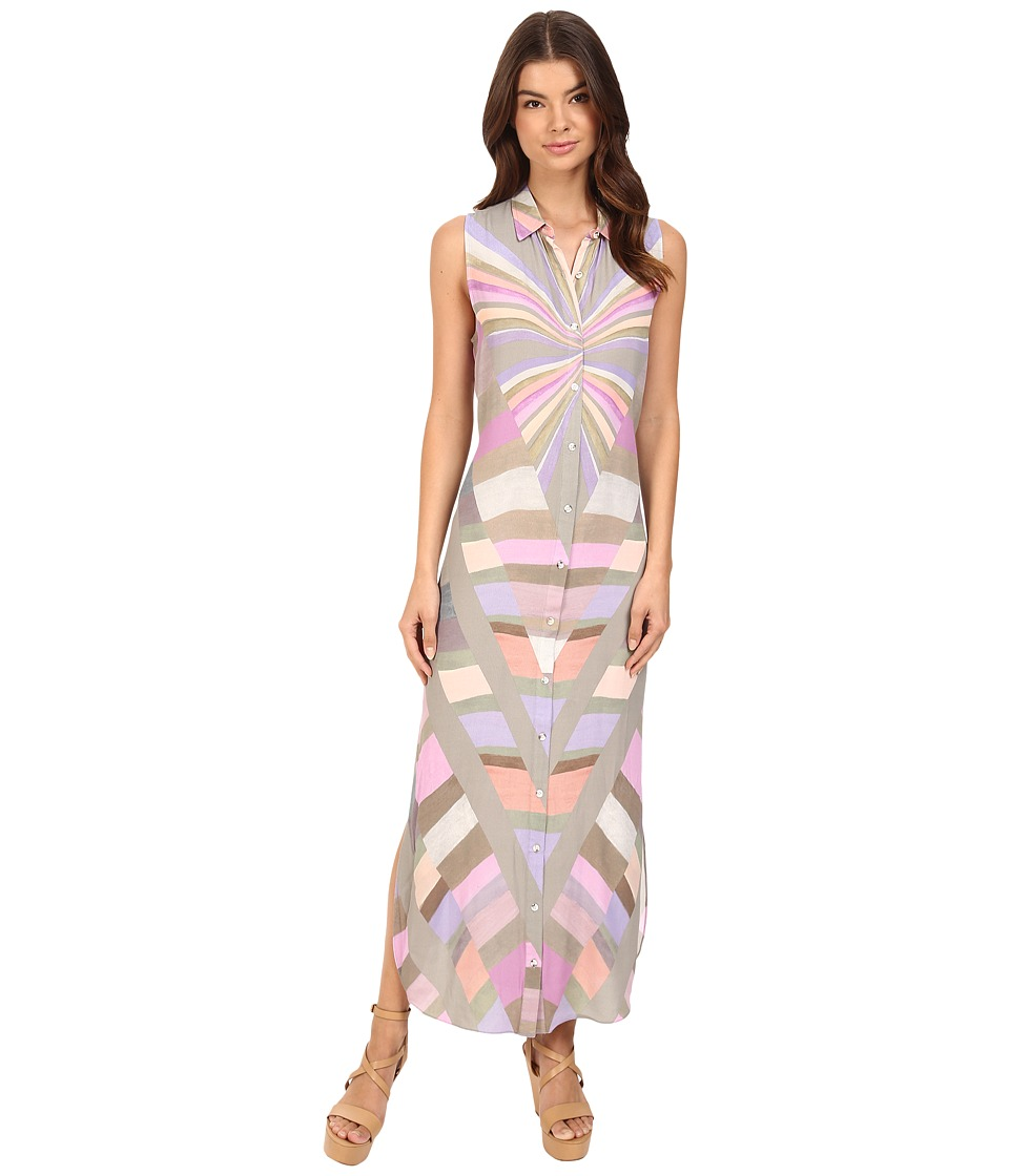 Mara Hoffman - Prism Button Down Dress (Lavender) Women's Dress