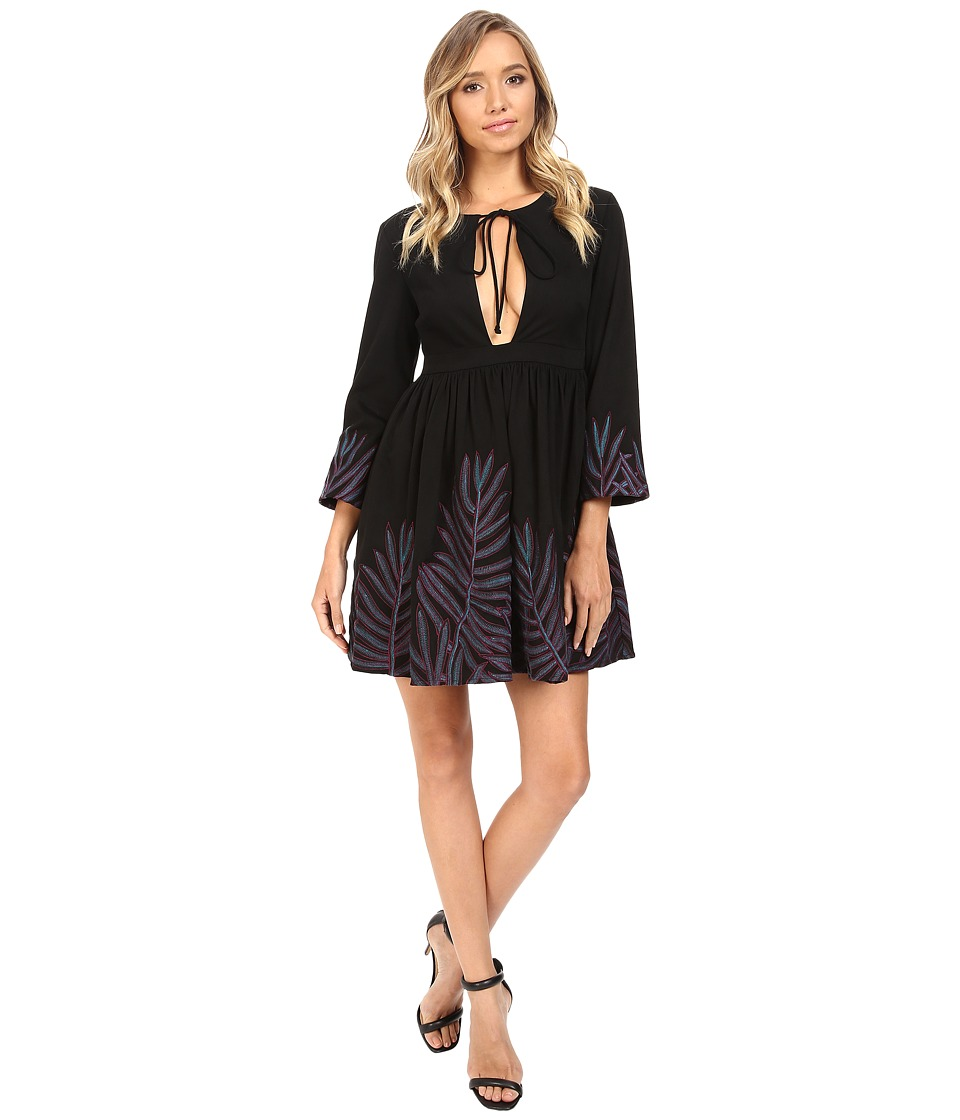 Mara Hoffman Leaf Mini Dress (Black Multi) Women