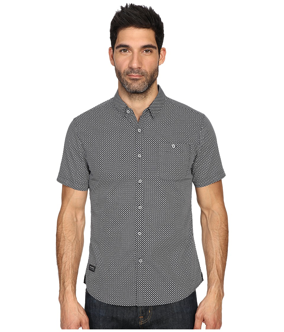 7 Diamonds Traveller Short Sleeve Shirt (Navy) Men