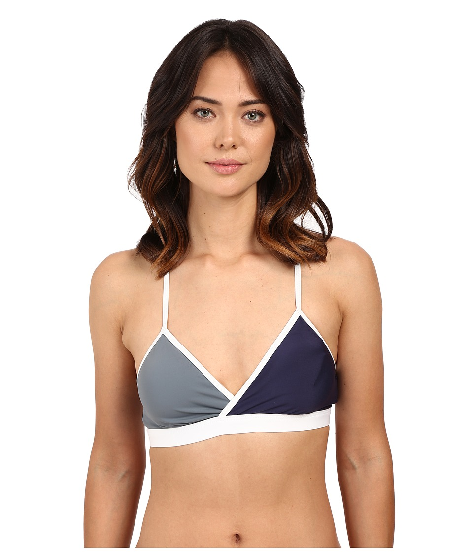 Nautica - Block Tackle Sport Bra NA34176 (Navy) Women's Swimwear