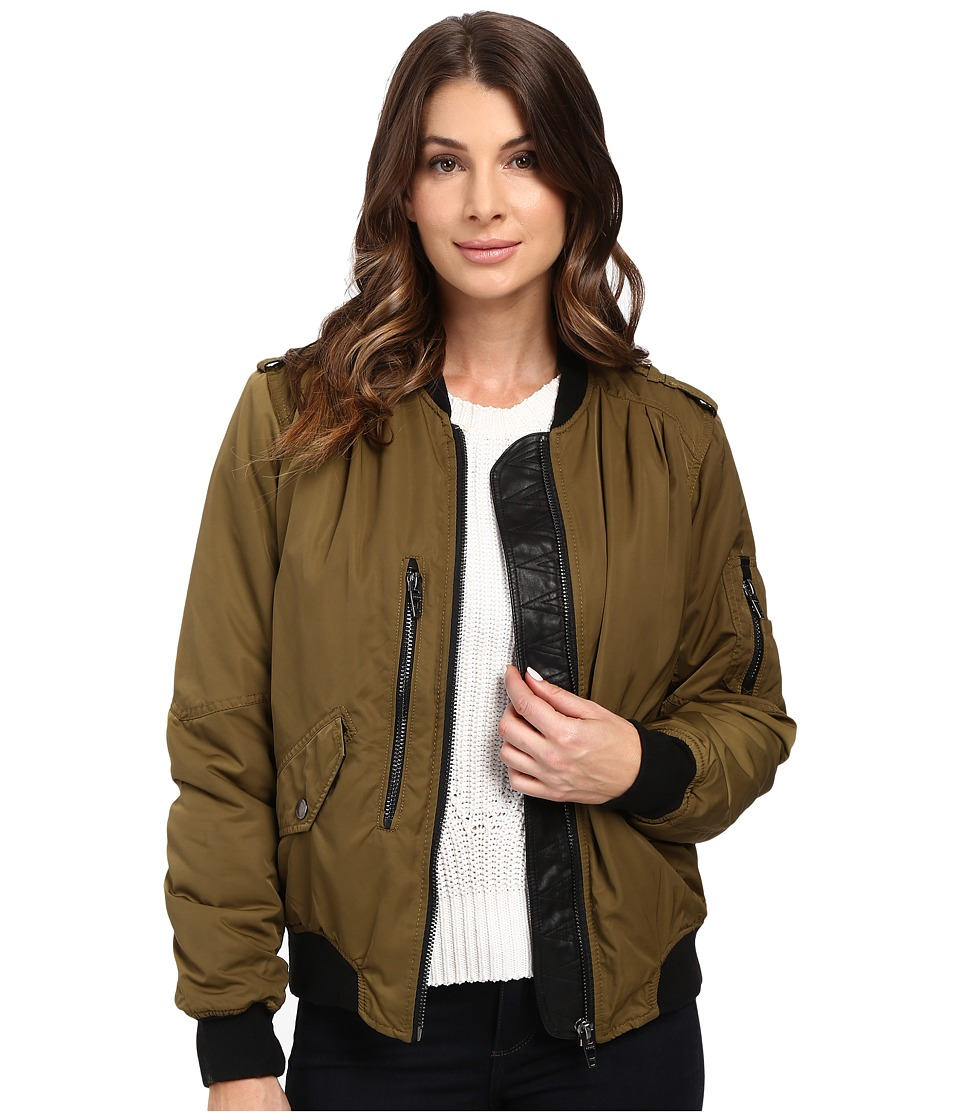 Blank NYC - Bomber Jacket in She's a Toad (Green) Women's Coat
