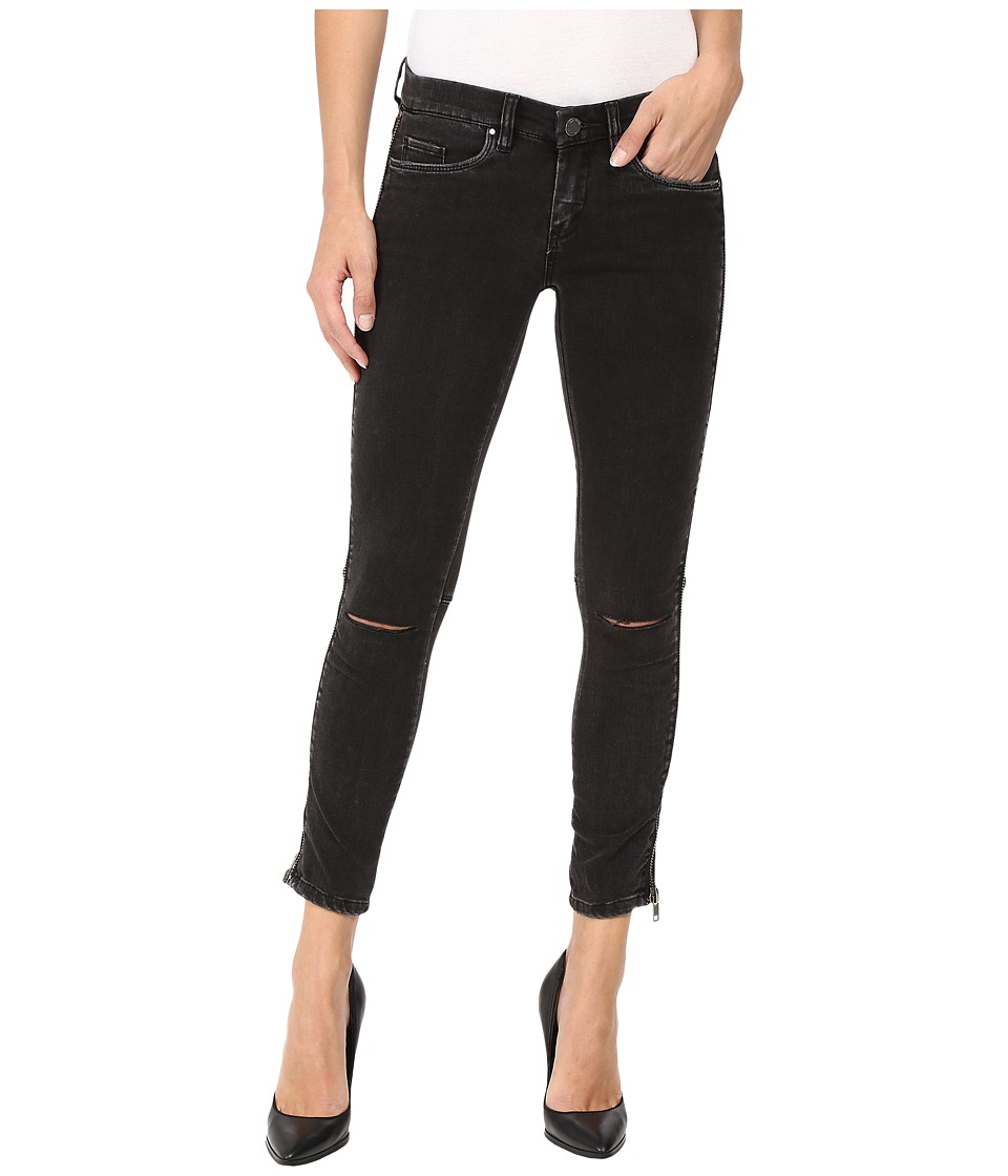 Blank NYC Zipper Detail Jeans in Wicked Hard (Grey/Black) Women