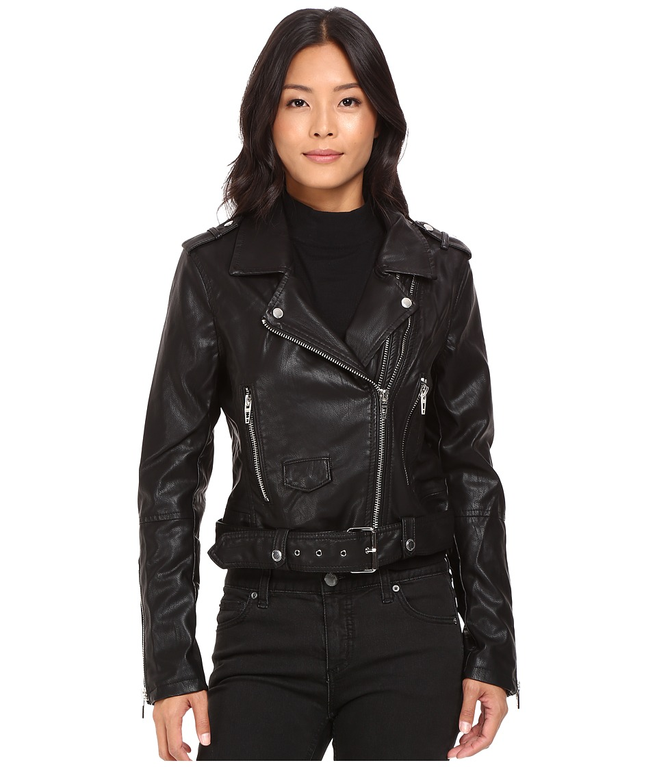 Blank NYC - Moto Jacket in Squad Goals (Black) Women's Coat