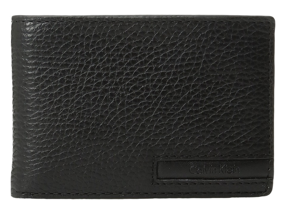 Calvin Klein - Pebble Slimfold with Key Fob (Black) Wallet
