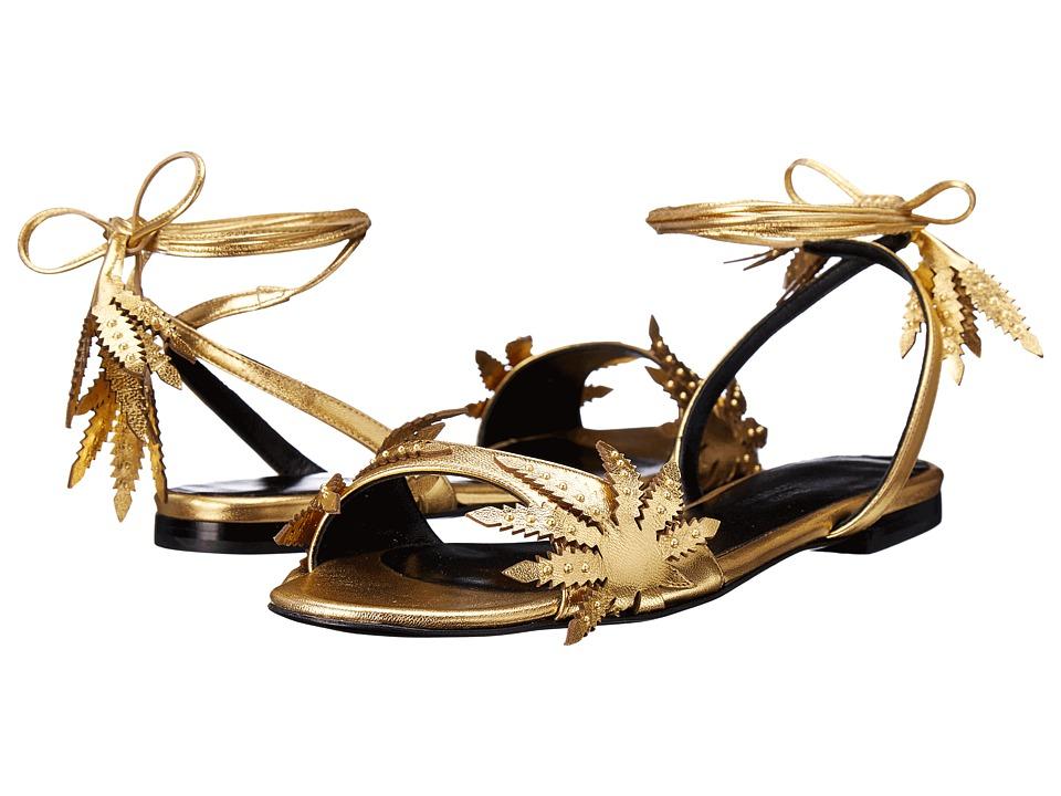 Eugene Riconneaus - Leafeetia Flat (Gold) Women's Flat Shoes