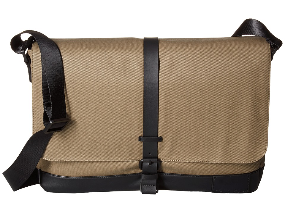 Calvin Klein - Coated Canvas Messenger Bag (Fatigue/Black) Messenger Bags