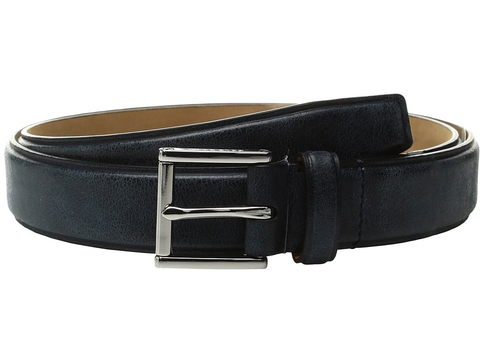 Cole Haan - 30mm Belt with Pressed Edge and Heat Crease Detail (Blazer Blue) Men's Belts