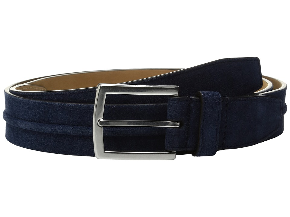 Cole Haan - 35mm Suede Belt with Filled Center Detail (Rainstorm) Men's Belts