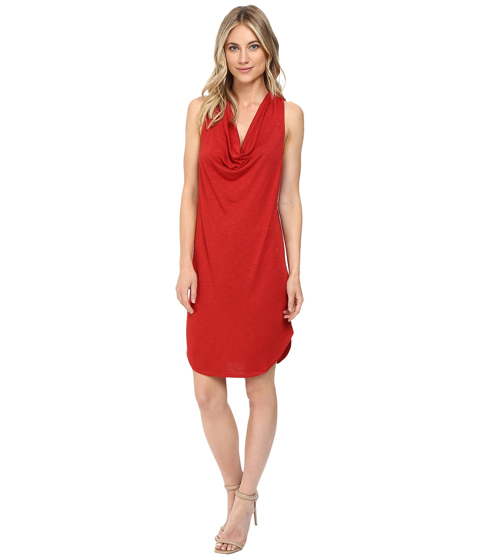 Lanston - Drape Racerback Dress (Russet) Women's Dress