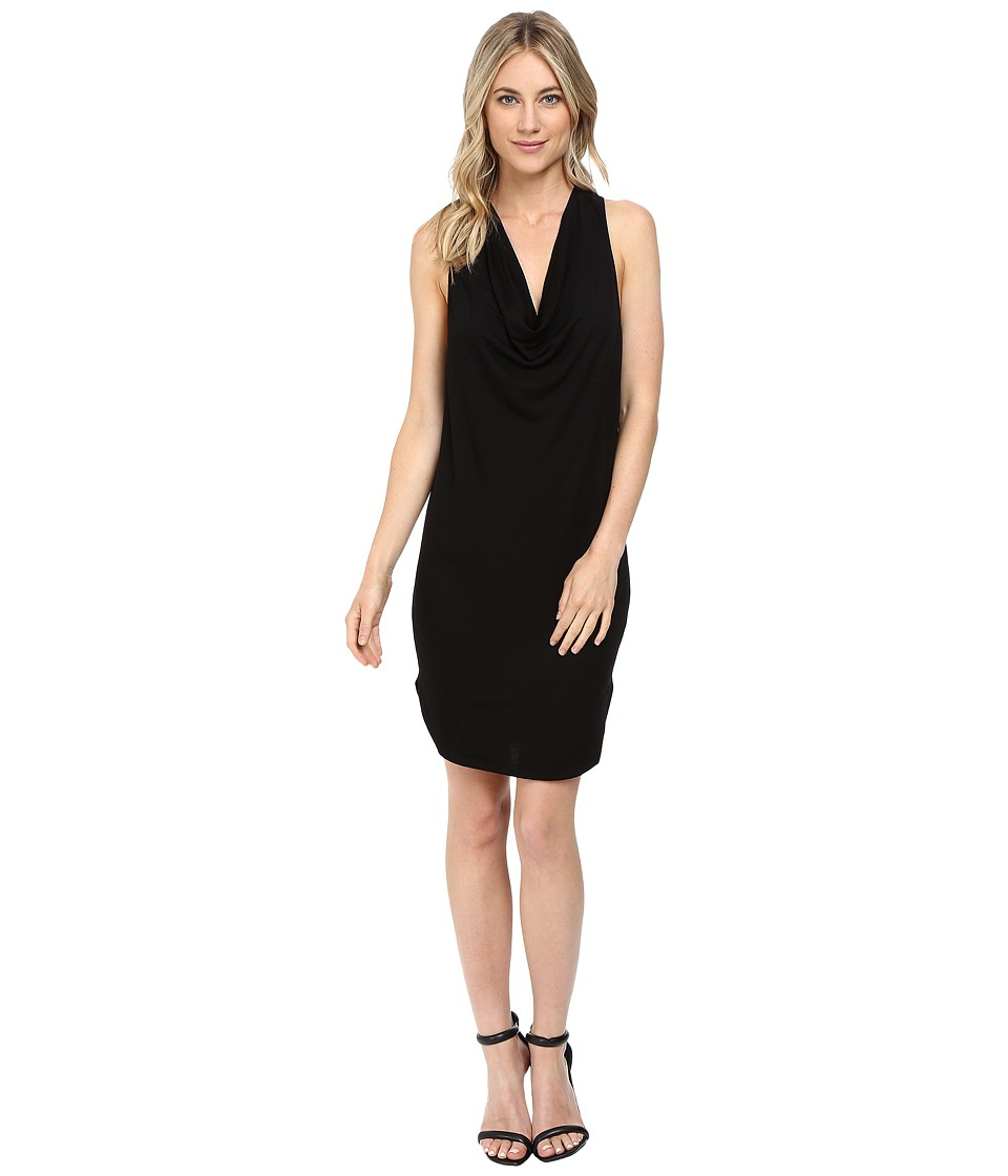 Lanston - Drape Racerback Dress (Black) Women's Dress