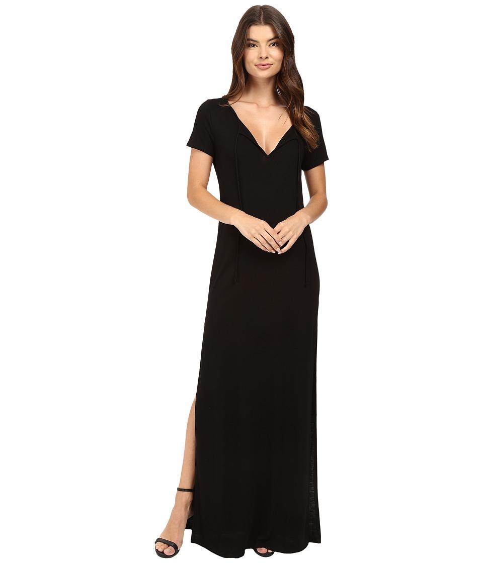 Lanston - Caftan Maxi Shirtdress (Black) Women's Dress