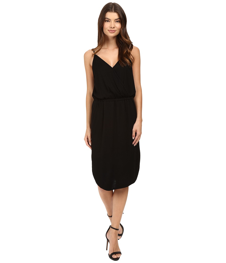 Lanston - Surplice Cami Dress (Black) Women's Dress