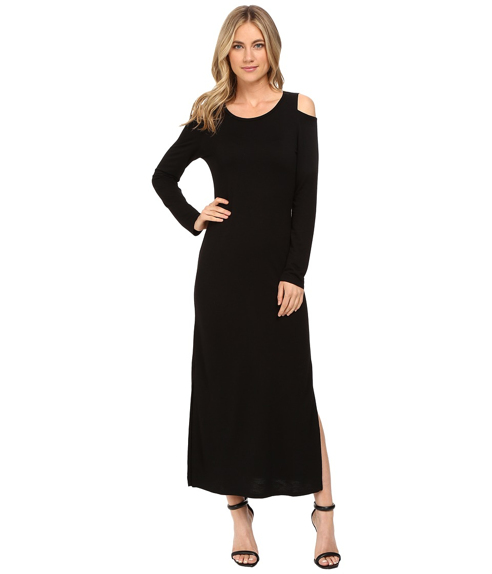 Lanston - Cut Out Shoulder Ankle Dress (Black) Women's Dress