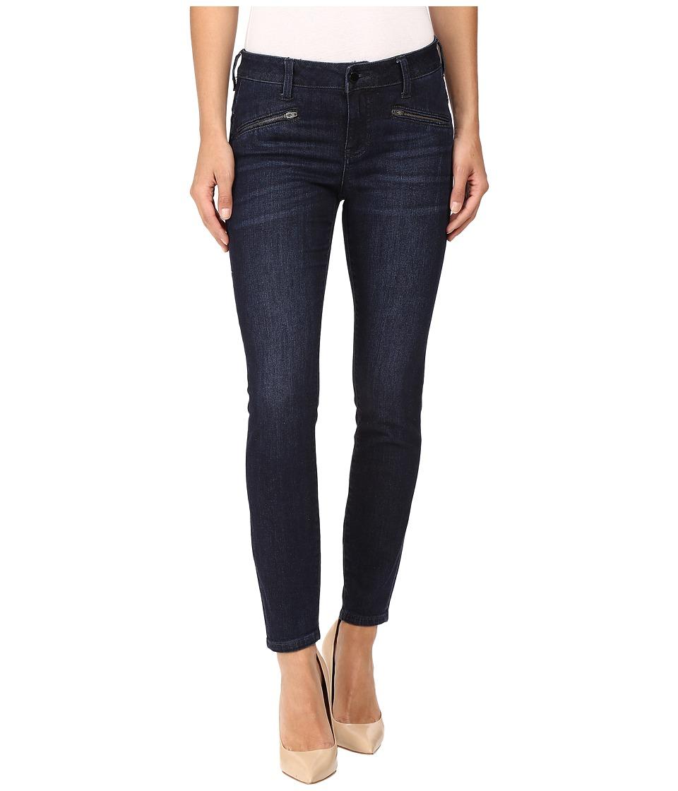 Liverpool - Remy Crop Zip in Vintage Super Dark (Vintage Super Dark) Women's Jeans
