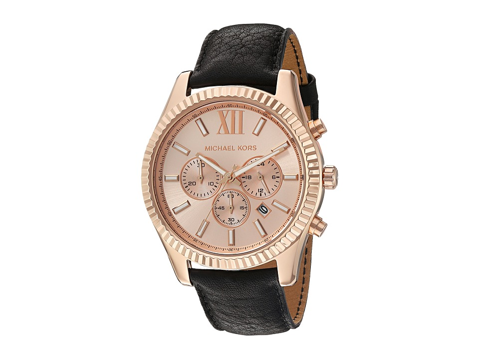 Michael Kors - MK8516 - Lexington (Black/Rose Gold) Watches