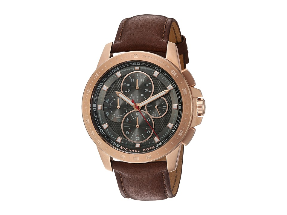 Michael Kors - MK8519 - Ryker (Brown/Rose Gold) Watches