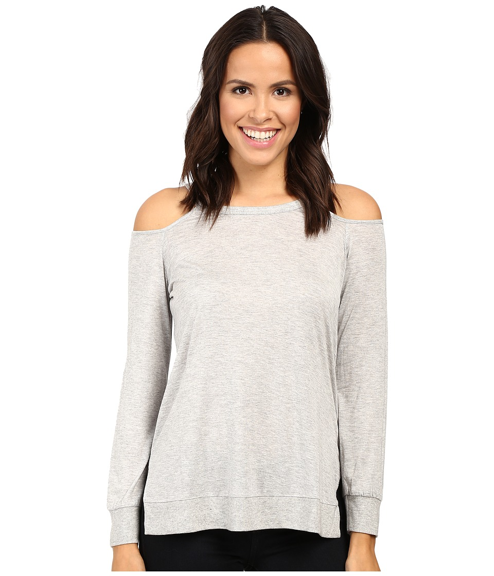 Lanston - Cut Out Shoulder Pullover (Heather) Women's Clothing