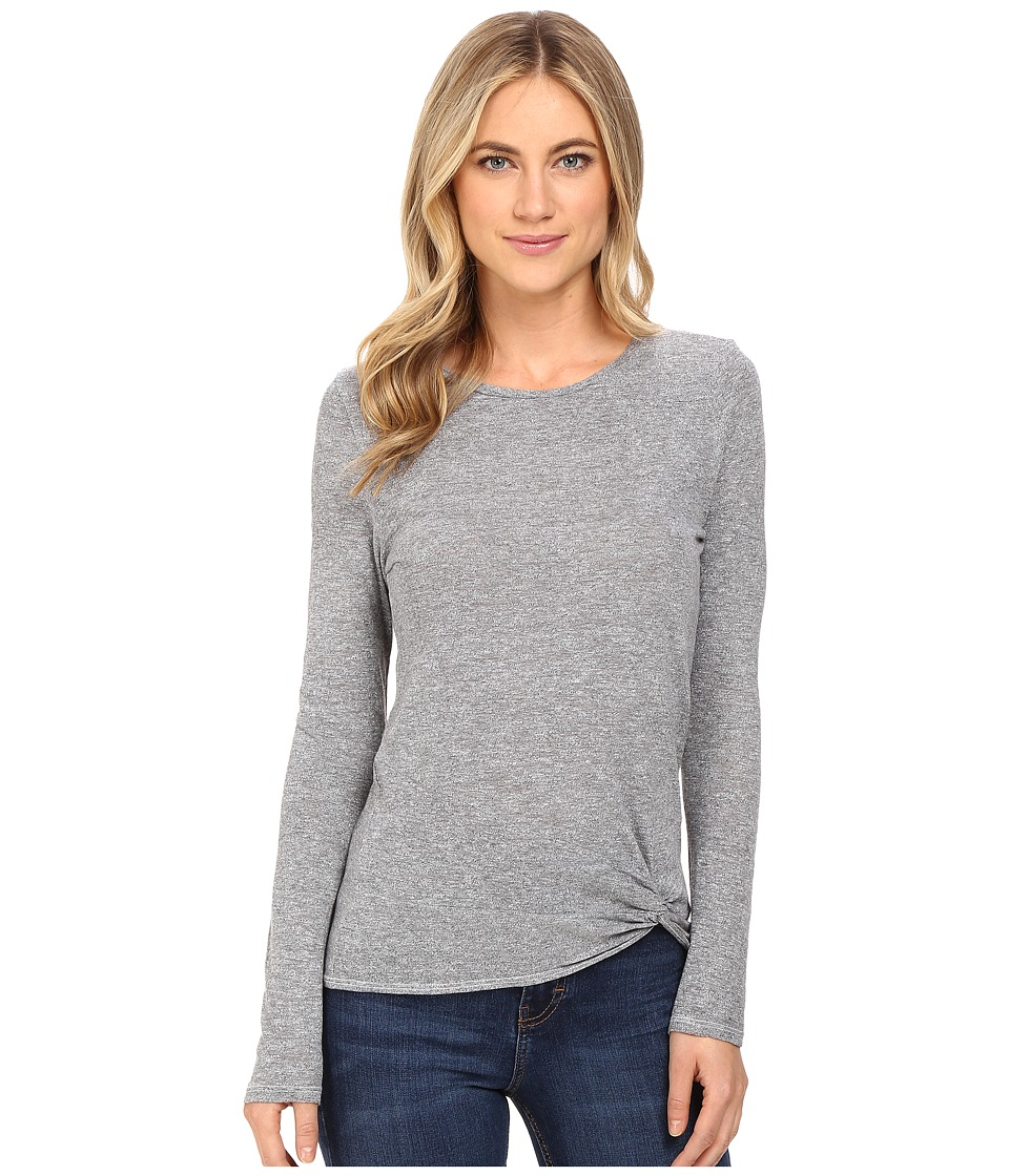 Lanston - Twist Front Top (Heather) Women's Clothing