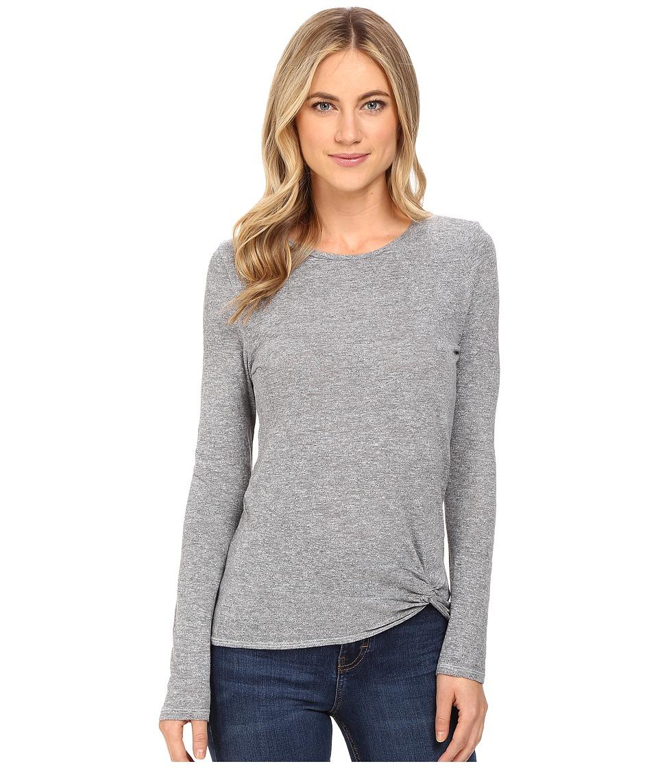 Lanston - Twist Front Top (Heather) Women's Clothing