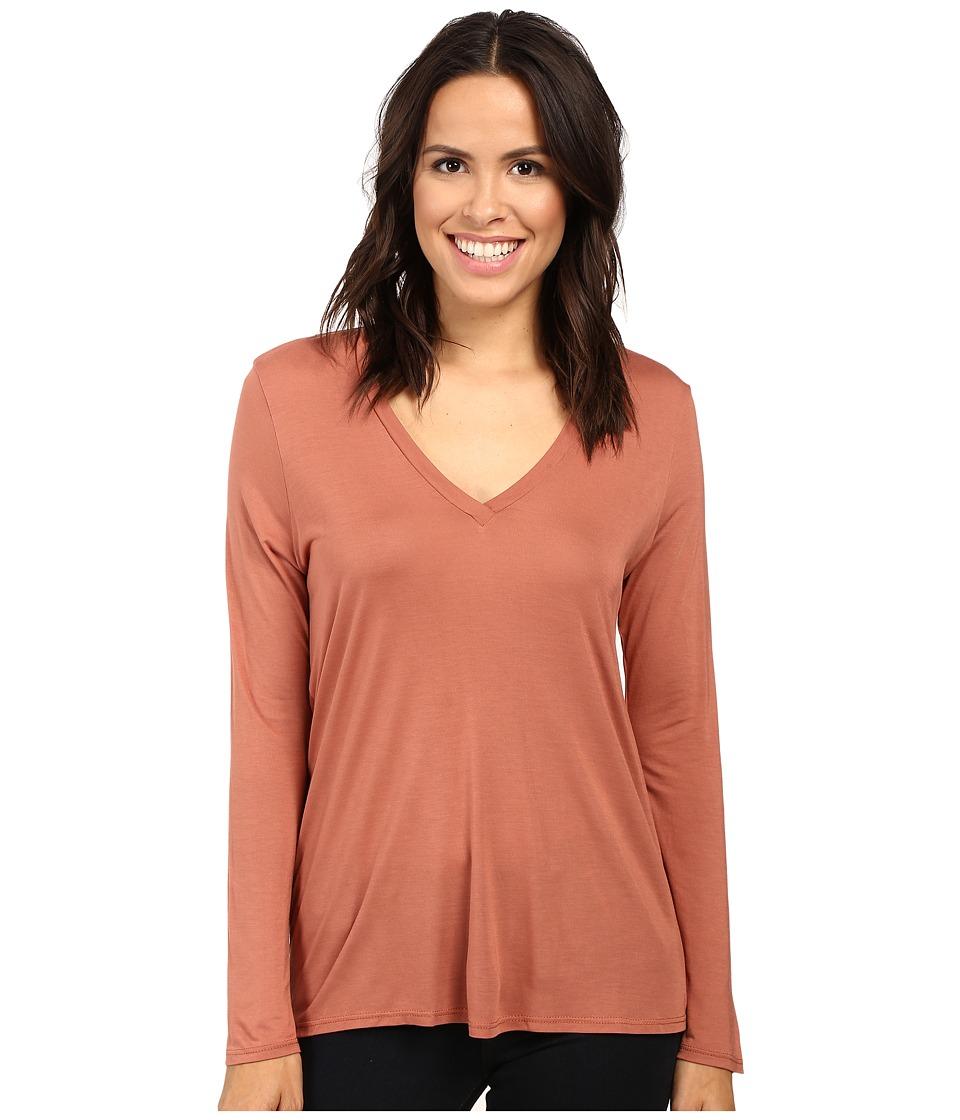 Lanston - Twist Back Long Sleeve (Terra) Women's Clothing