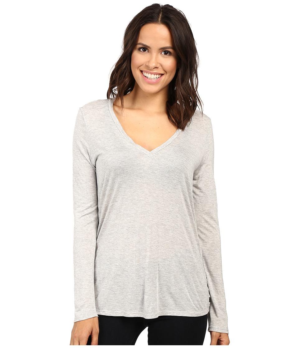 Lanston - Twist Back Long Sleeve (Heather) Women's Clothing
