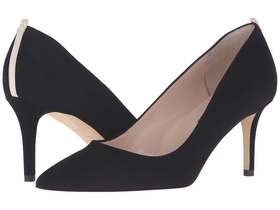 SJP by Sarah Jessica Parker - Fawn 70mm (Black Suede) Women's Slip-on Dress Shoes