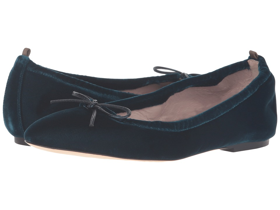 SJP by Sarah Jessica Parker - Gelsey Flat (Belgravia Teal Velvet) Women's Flat Shoes