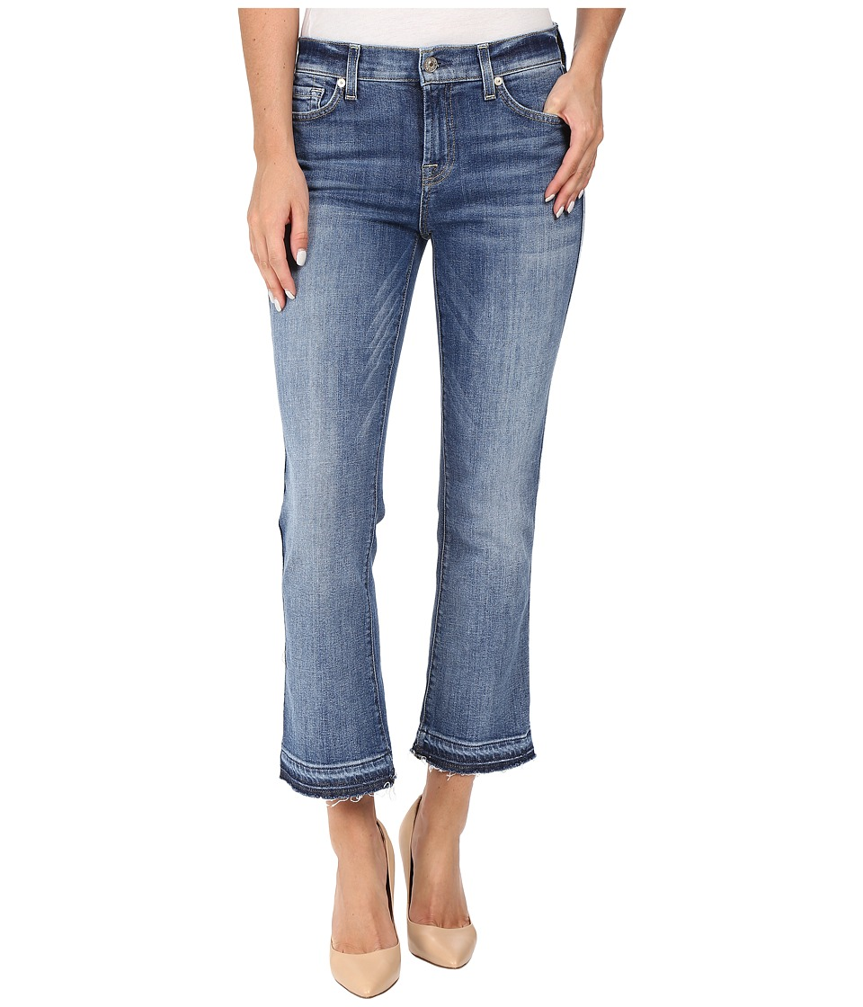 7 For All Mankind - Cropped Bootcut w/ Released Hem in Chelsea Lights (Chelsea Lights) Women's Jeans