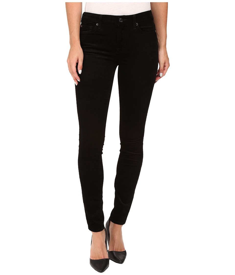 7 For All Mankind - The Skinny Cord in Black (Black) Women's Jeans