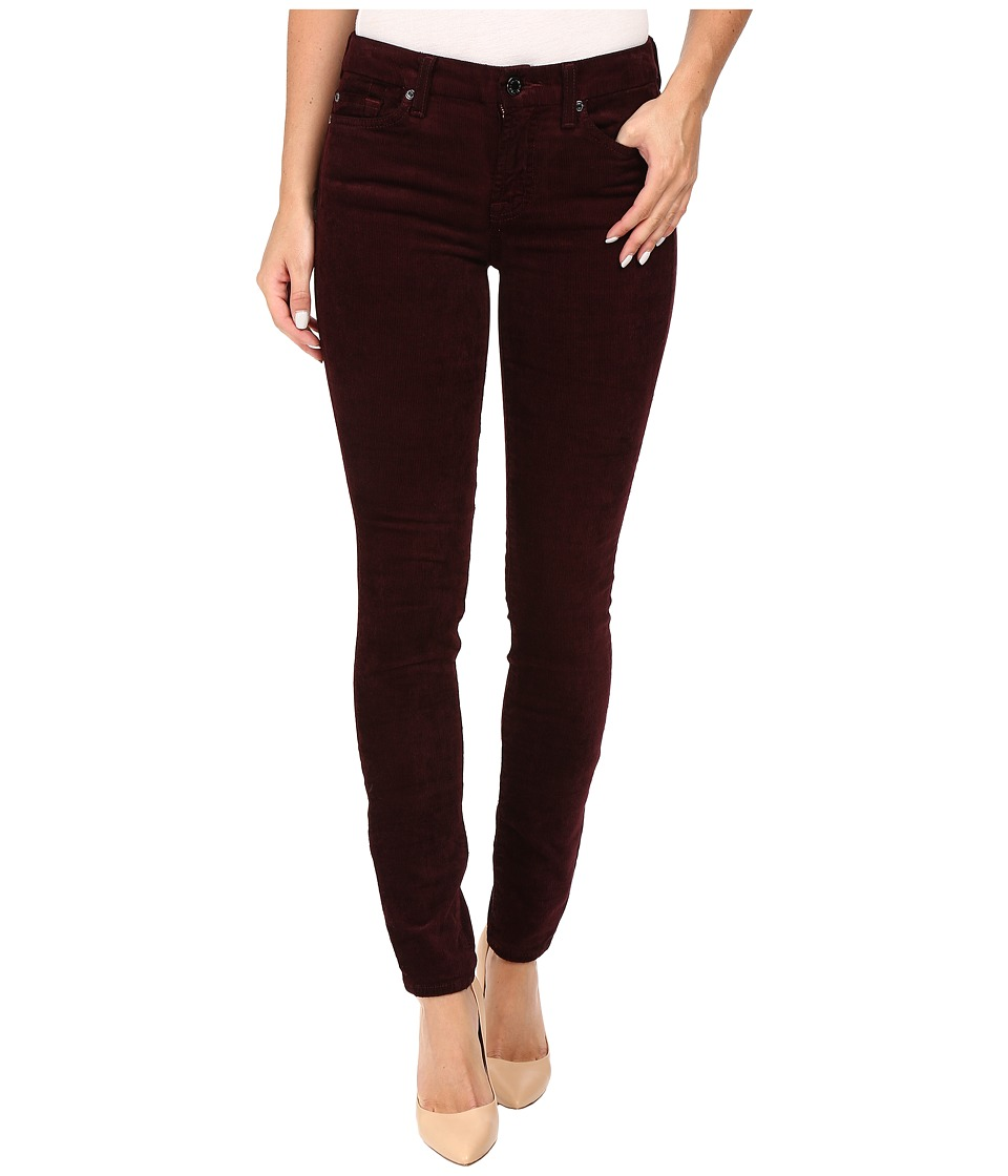 7 For All Mankind - The Skinny Cord in Merlot (Merlot) Women's Jeans