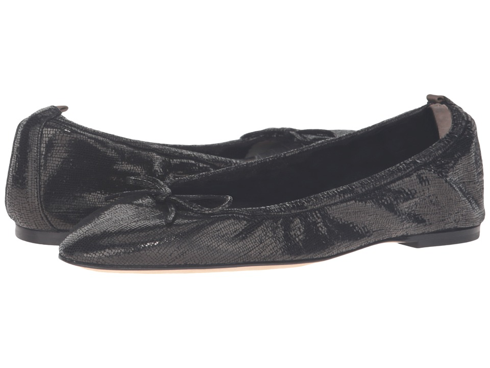 SJP by Sarah Jessica Parker - Gelsey Flat (Black Strap Metallic) Women's Flat Shoes