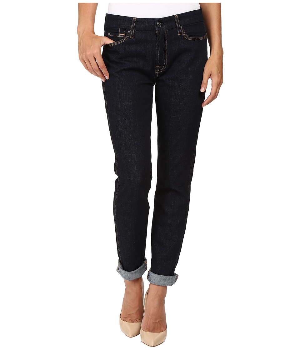 7 For All Mankind - Fashion Boyfriend w/ Wide Raw Cuff in Fashion Rinsed Denim (Fashion Rinsed Denim) Women's Jeans