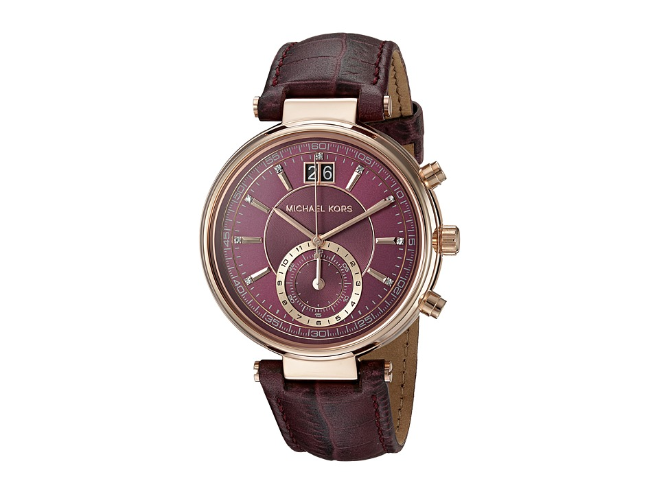 Michael Kors - MK2580 - Sawyer (Plum/Rose Gold) Watches
