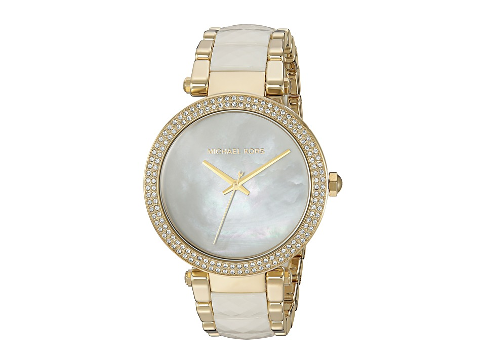 Michael Kors - MK6400 - Parker (Gold/White) Watches