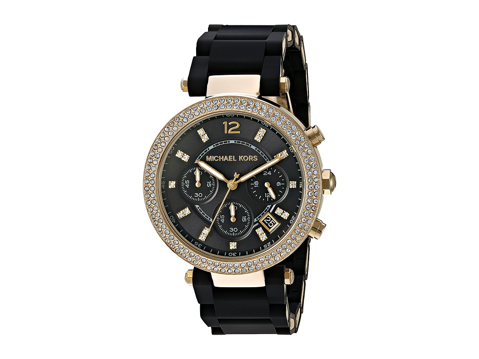 Michael Kors - MK6404 - Parker (Black/Gold) Watches