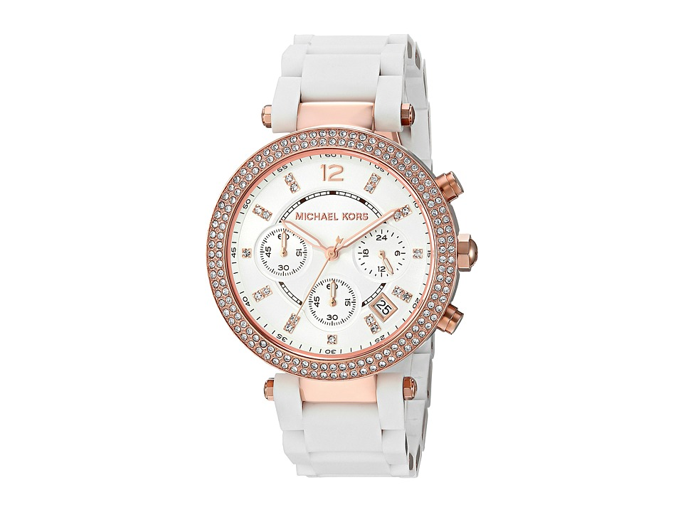 Michael Kors - MK6405 - Parker (White/Rose Gold) Watches