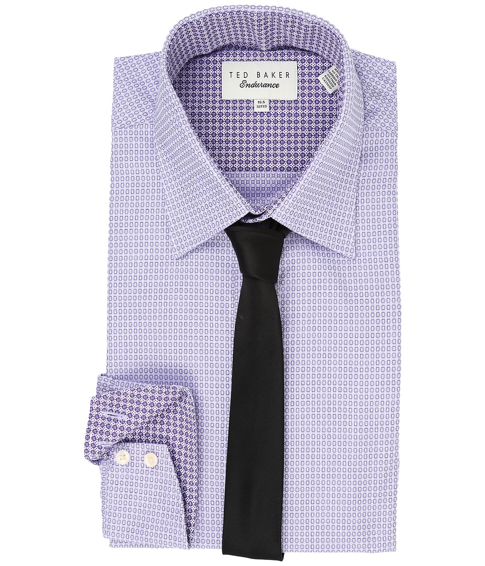 Ted Baker - Radmir Endurance Timeless Shirt (Purple) Men's Long Sleeve Button Up