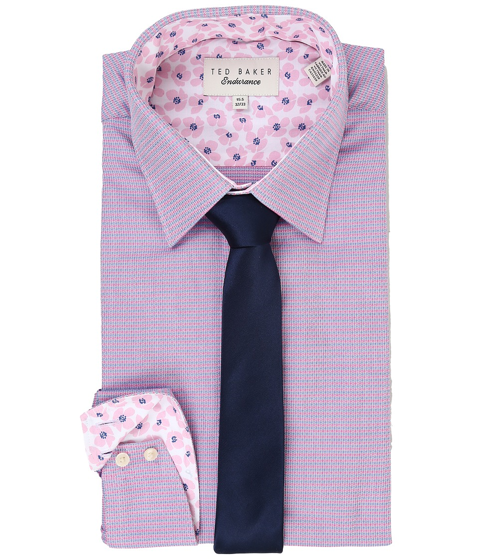 Ted Baker - Yaholo Endurance Timeless Shirt (Pink) Men's Long Sleeve Button Up