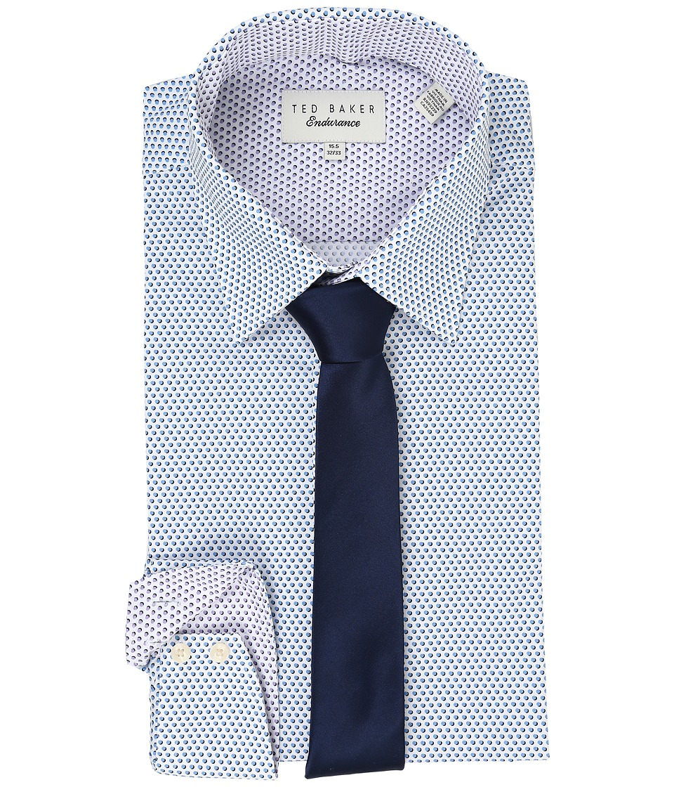 Ted Baker - Ucello Endurance Timeless Shirt (Blue) Men's Long Sleeve Button Up