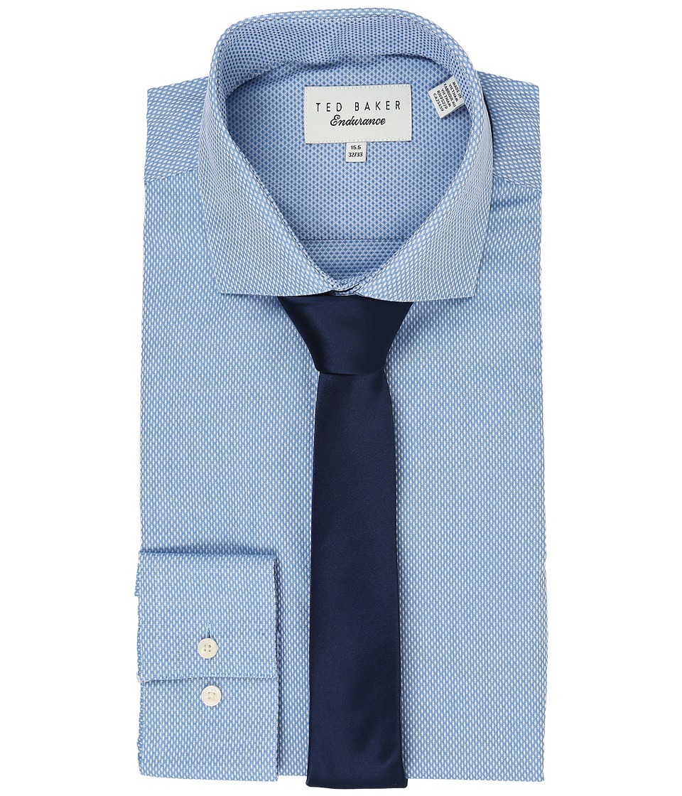 Ted Baker - Millin Endurance Slick Rick Shirt (Blue) Men's Long Sleeve Button Up