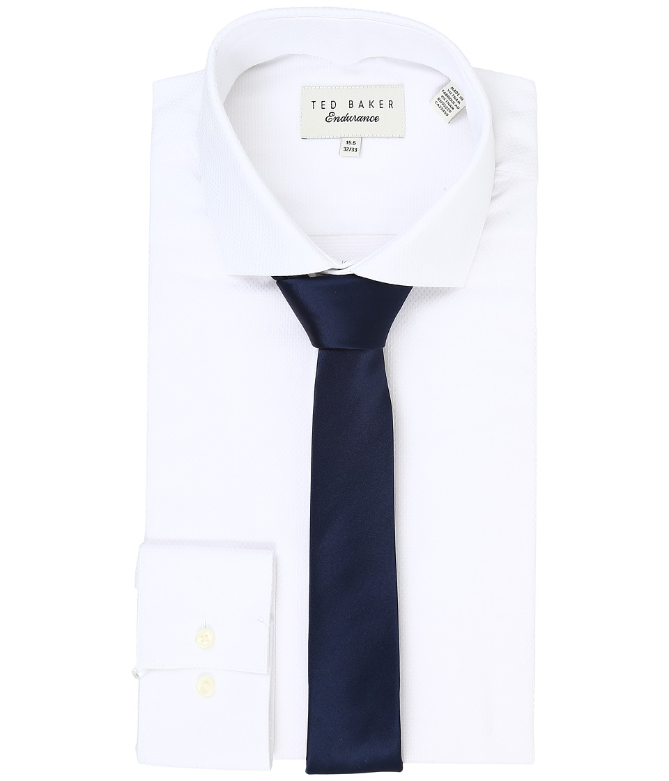 Ted Baker - Millin Endurance Slick Rick Shirt (White) Men's Long Sleeve Button Up